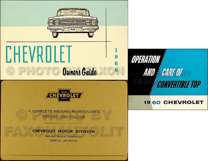 1960 Chevy Reprint Assembly Manual Biscayne Bel Air Impala
