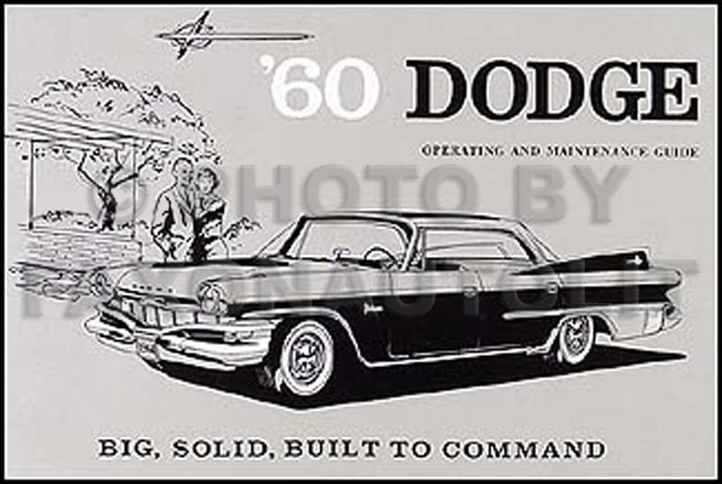 1960 dodge matador polara reprint owners manual 60 publicscrutiny Gallery