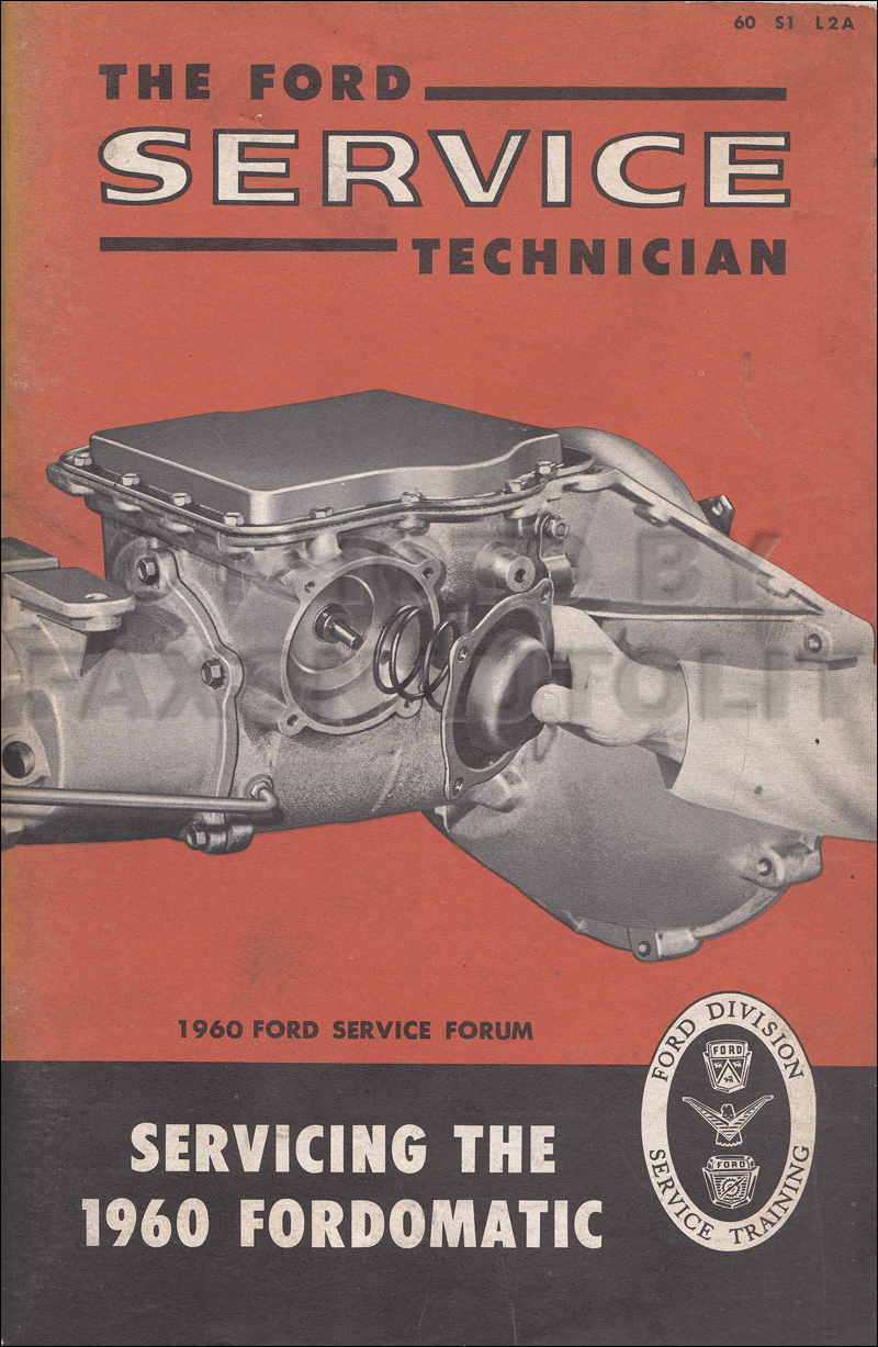 Image Is Loading 1960 Ford Fordomatic Transmission Service Manual 2 Speed