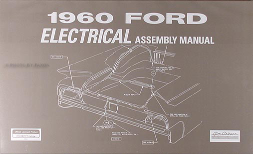 1960 fomoco canadian wiring diagram manual original 1960 ford car electrical assembly manual reprint