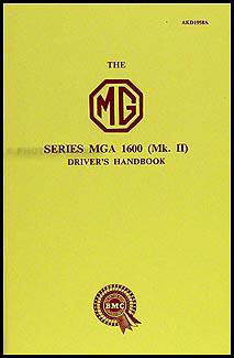 1960 MGA Twin Cam Owner's Manual Reprint
