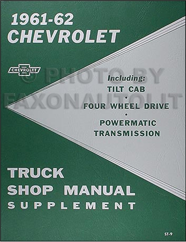 1961 chevrolet pickup  u0026 truck reprint owner u0026 39 s manual