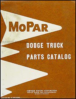 1961-1962 Dodge Pickup and Truck Parts Book Original