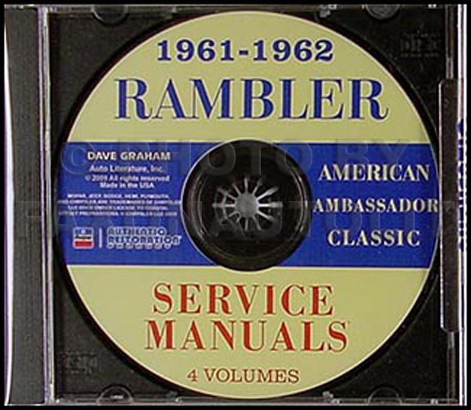 cd rom 1961 1962 amc rambler repair shop manual set rh faxonautoliterature com 1960 Rambler Sedan 1959 AMC Rambler