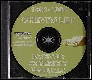 CD-ROM 1961-1964 Chevrolet Car Assembly Manual