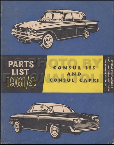 1961 1964 ford consul parts catalog original for Consul service catalog
