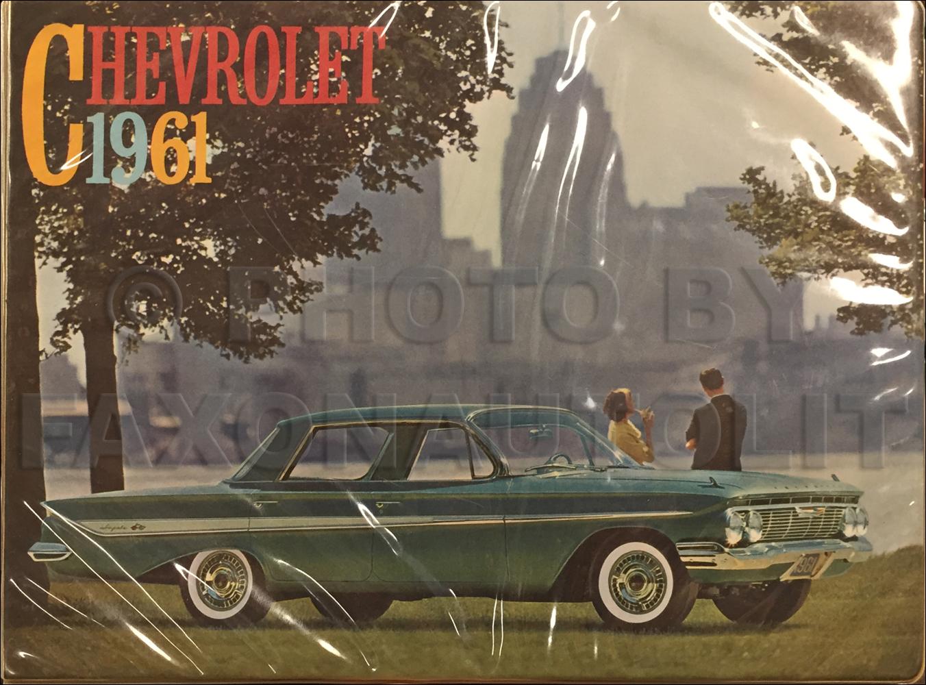 1961 Chevrolet Car Repair Shop Manual Reprint