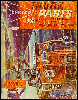 1961 Canadian Dodge Truck and Fargo Parts Book Original