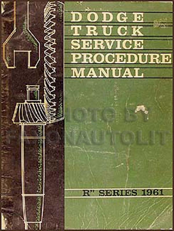 1961 Dodge Truck Shop Manual Original Supplement