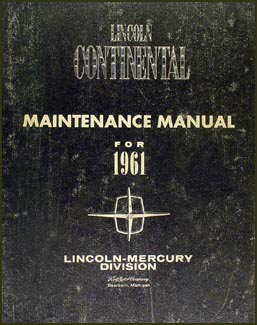 1961 lincoln continental repair shop manual original. Black Bedroom Furniture Sets. Home Design Ideas