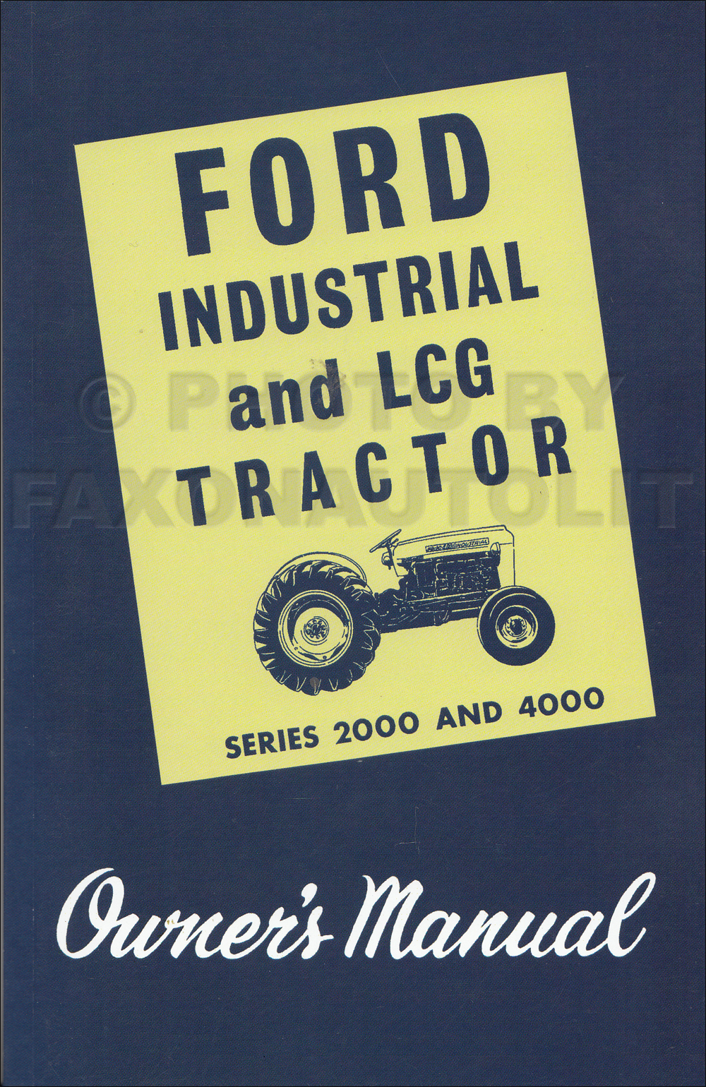 ford tractor repair shop manual reprint