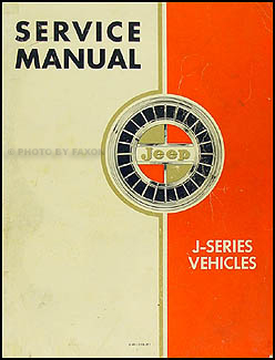 1962-1964 Jeep Gladiator & Wagoneer Shop Manual Original