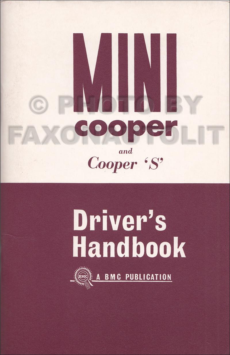 1962 1967 mini cooper mark i and cooper s owner s manual reprint rh faxonautoliterature com mini cooper 2008 owners manuals owners manual for 2012 mini cooper