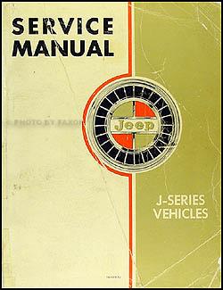 1962-1968 Jeep Gladiator and Wagoneer Shop Manual Original