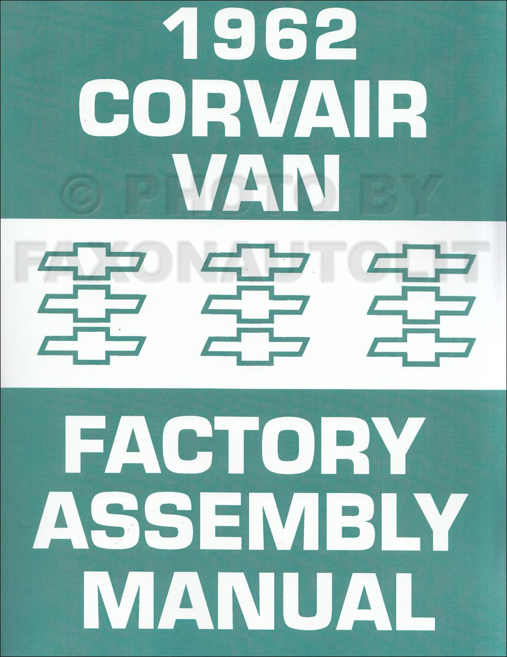 1962 Chevy Corvair 95 Van and Pickup Assembly Manual Reprint