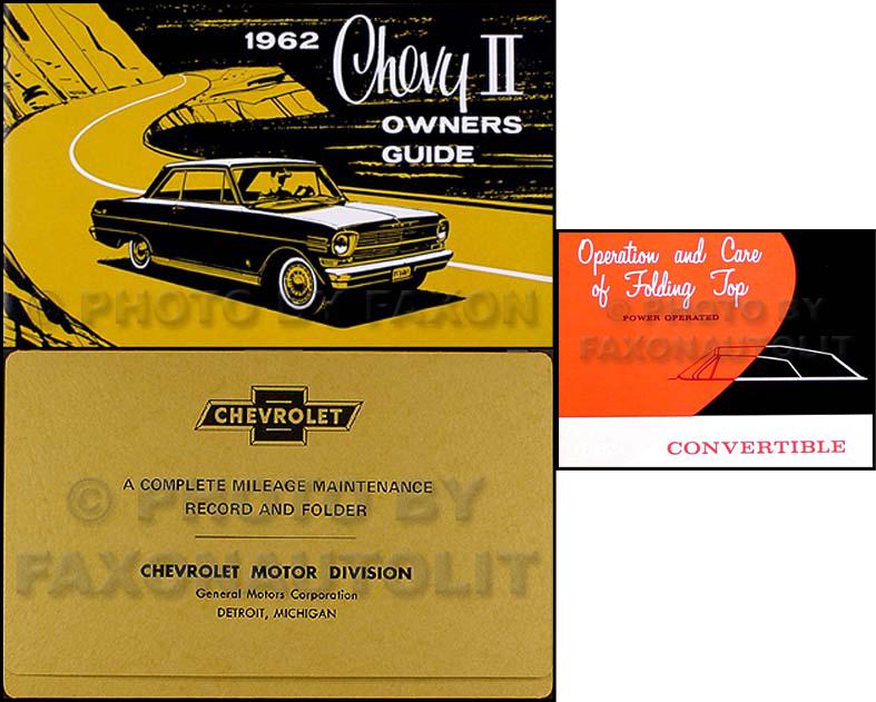 1962 Chevy Ii  U0026 Nova Repair Shop Manual Reprint