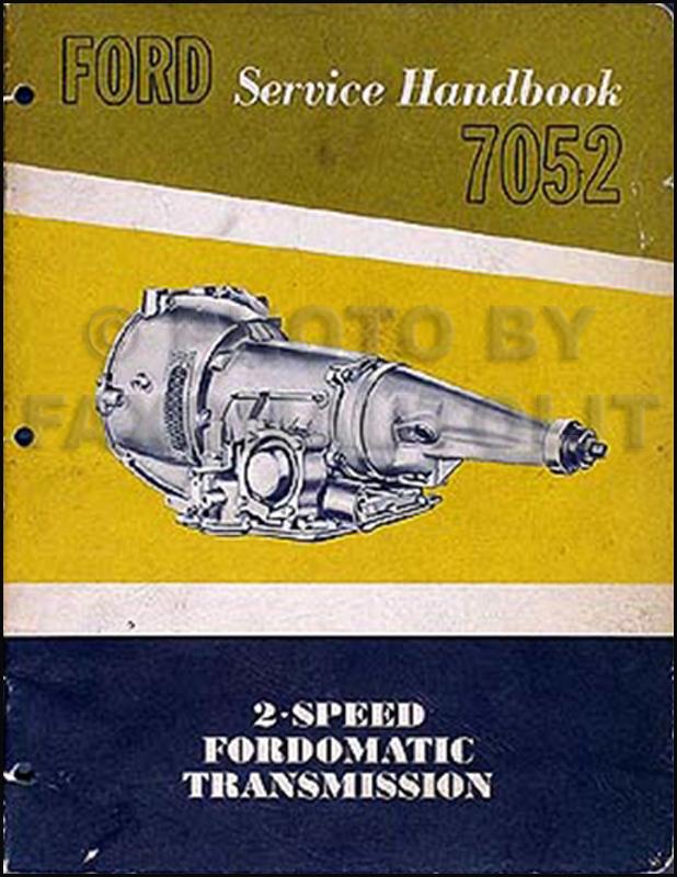 1951 Fordomatic Transmission Repair Manual Original