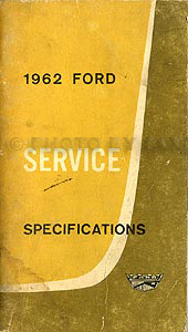 1962 Ford Car and Truck Original Specifications Manual Original