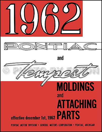 1962 Pontiac Body Molding and Clips Parts Catalog Reprint