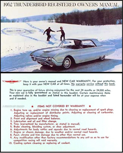 1962 Ford Thunderbird Owner's Manual Reprint