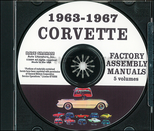 1963 1967 Chevrolet Corvette Assembly Manual On Cd Rom