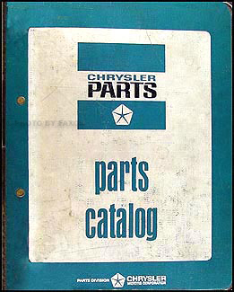 1970-1971 Dodge, Plymouth, Chrysler Parts Book Original