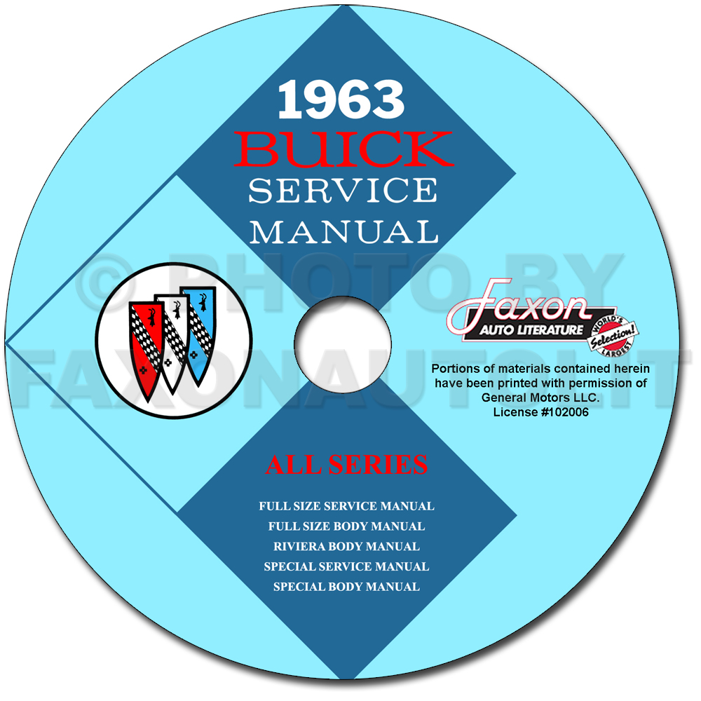 1963 buick shop manual and body repair on cd rom1963 buick cd rom shop manual \u0026amp; body manual