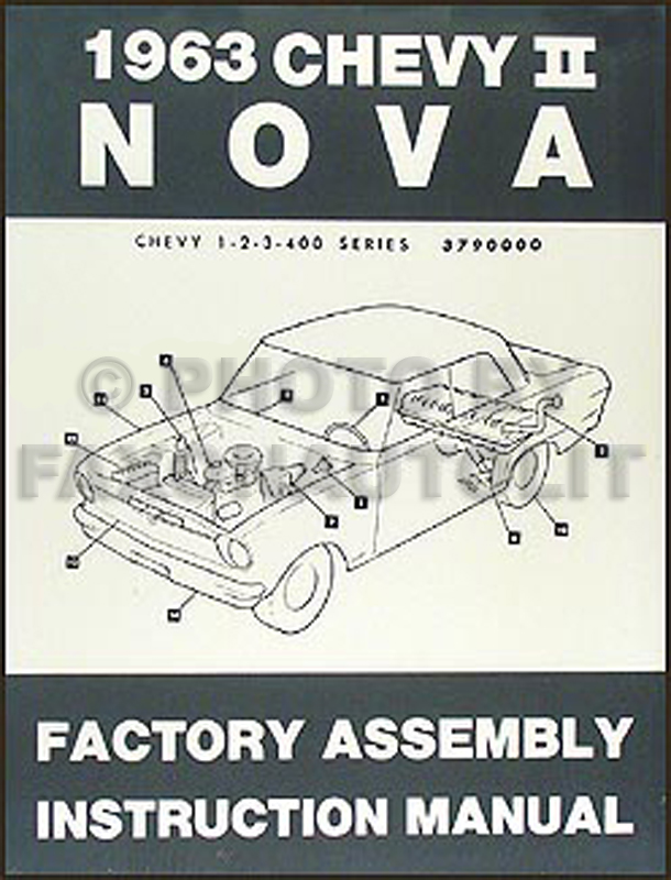 chevy ii nova wiring diagram manual reprint 1963 chevy ii nova bound assembly manual reprint