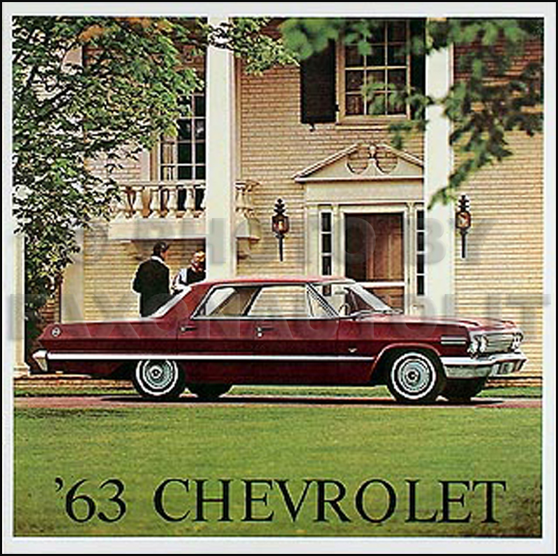 1963 chevy wiring diagram manual reprint impala ss bel air biscayne 1963 impala ss bel air s reprint accessory brochure set
