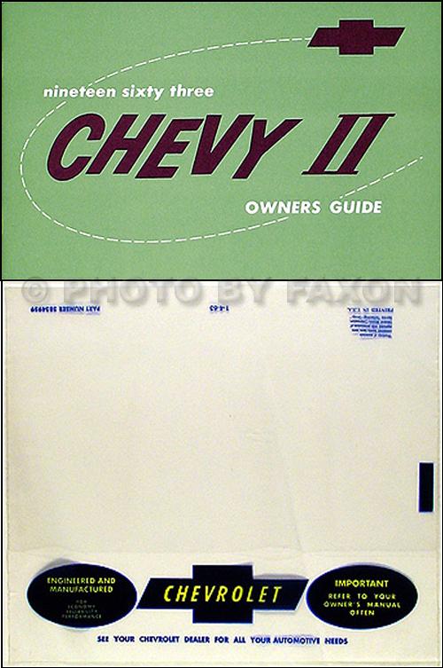 1963 Chevy II & Nova Wiring Diagram Manual Reprint