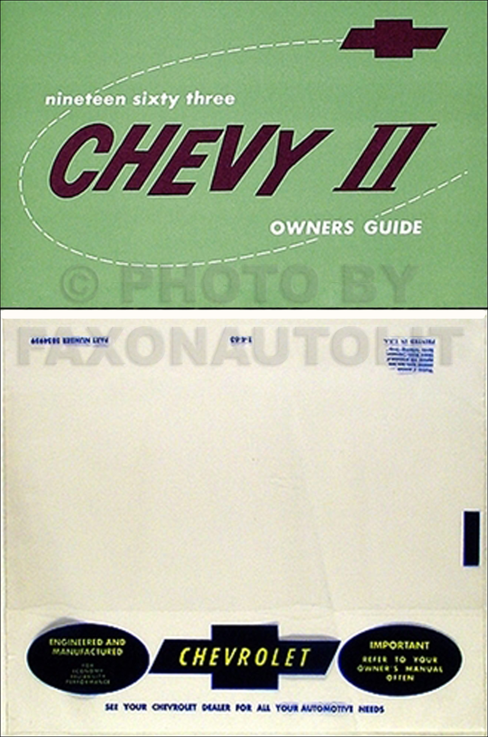 Image is loading 1963-Nova-and-Chevy-II-Owners-Manual-with-