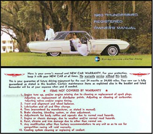 1963 ford thunderbird owner s manual reprint rh faxonautoliterature com 1992 Ford Thunderbird Wiring Diagram 1955 Ford Thunderbird Wiring Diagram