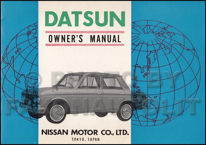 1964 1965 datsun 410 bluebird owner s manual original rh faxonautoliterature com Nissan Bluebird Sylphy Interior Nissan Bluebird Sylphy Interior