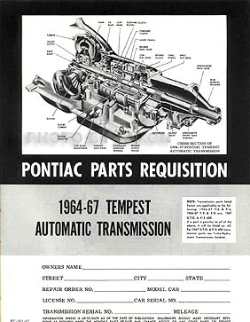 1964 tempest lemans gto wiring diagram manual reprint 1964 1966 gto 1964 1967 tempest original transmission parts book