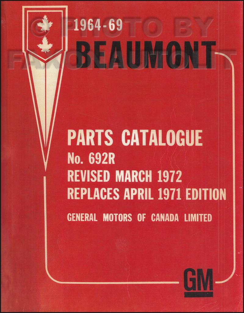 1968 Pontiac  Acadian   U0026 Beaumont Repair Shop Manual