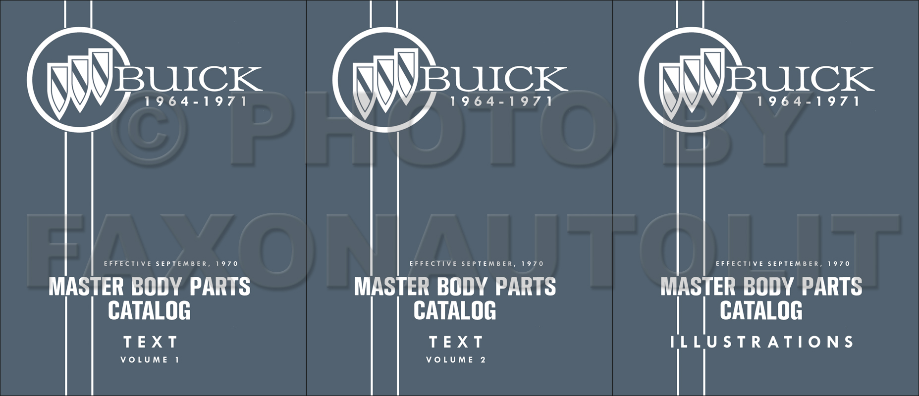 1964 1971 Buick Master Body Parts Book Reprint All Models 3 Volume Set 1968 1969 70 71 72 Skylark Gs Gsx Electra Lesabre Wiring