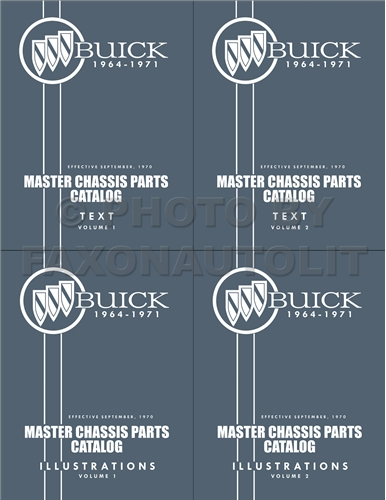 1964-1971 Buick Master Chassis Parts Book Reprint--All Models 4 Volume Set