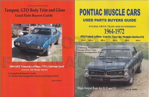 1964 72PontiacIMSetUpdated 1964 1972 gto & tempest parts id interchange manual 2 book set 1929 Pontiac Sedan Model at gsmportal.co