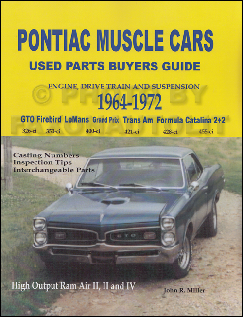 1964-1972 Pontiac Muscle Cars Interchange Manual Engine Parts Buyer Guide