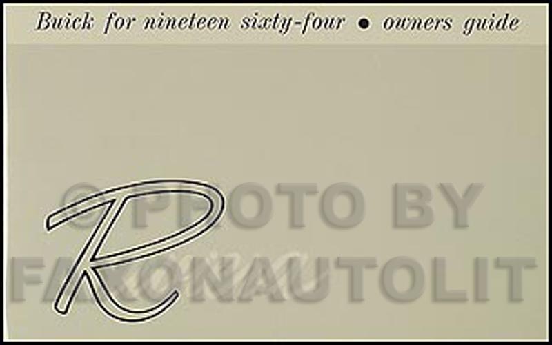 1964 buick riviera owners manual reprint rh faxonautoliterature com 1998 Buick Riviera 1994 Buick Riviera