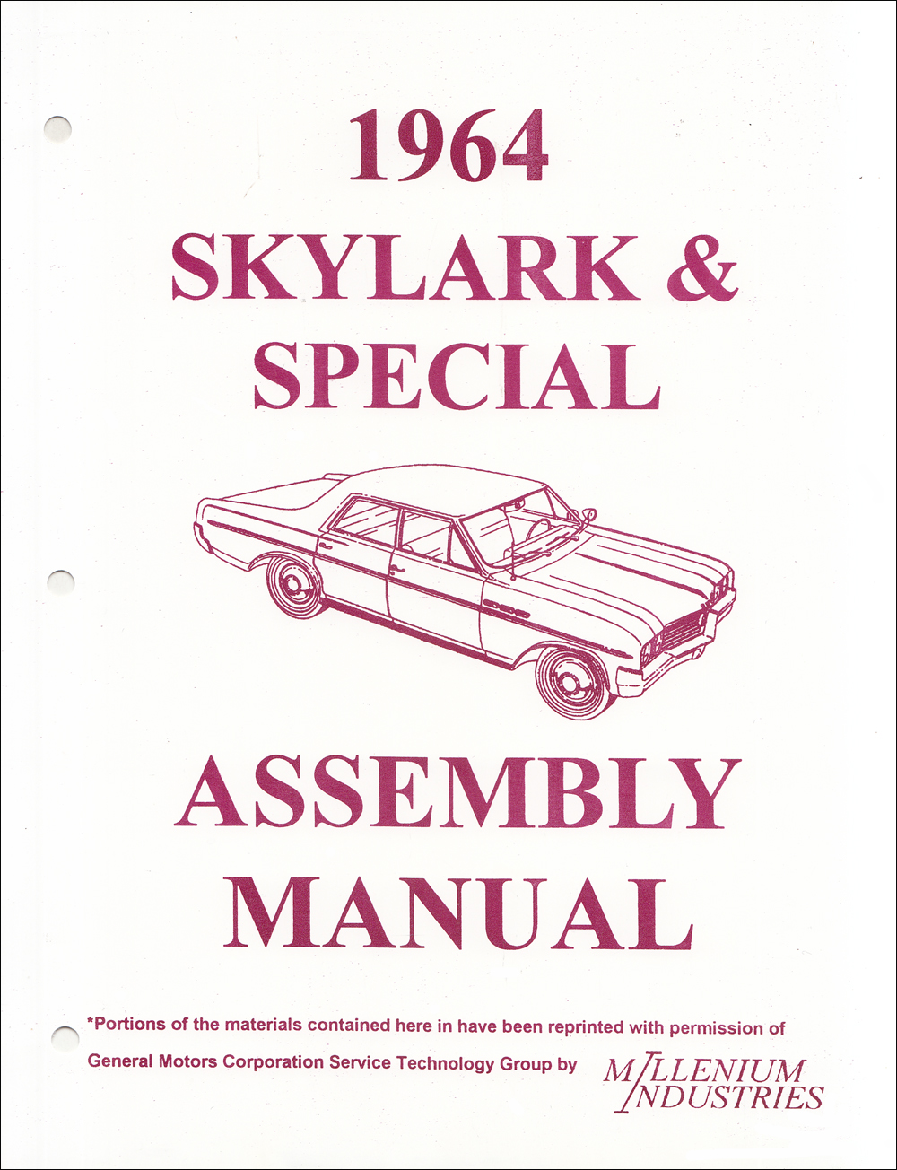 1964 Buick Special  Deluxe   U0026 Skylark Repair Shop Manual Original