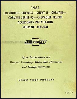 1964 Chevrolet Accessory Installation Manual Original