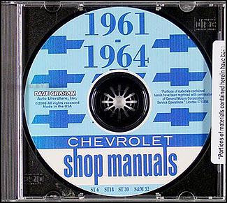 1961-1964 Chevrolet Car CD Shop Manual
