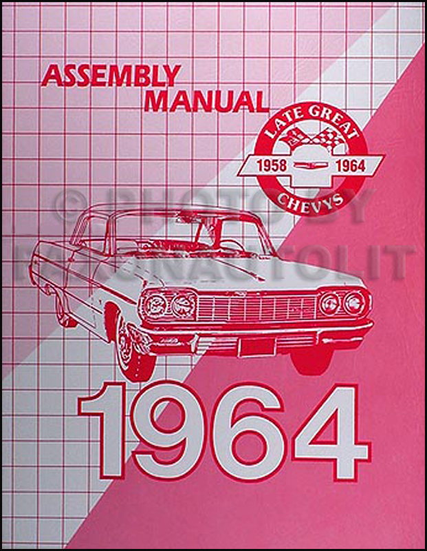 1964 Chevy Car Wiring Diagram Manual Reprint Impala  Bel