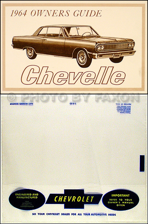 1964 Chevelle  Malibu And El Camino Repair Shop Manual Original