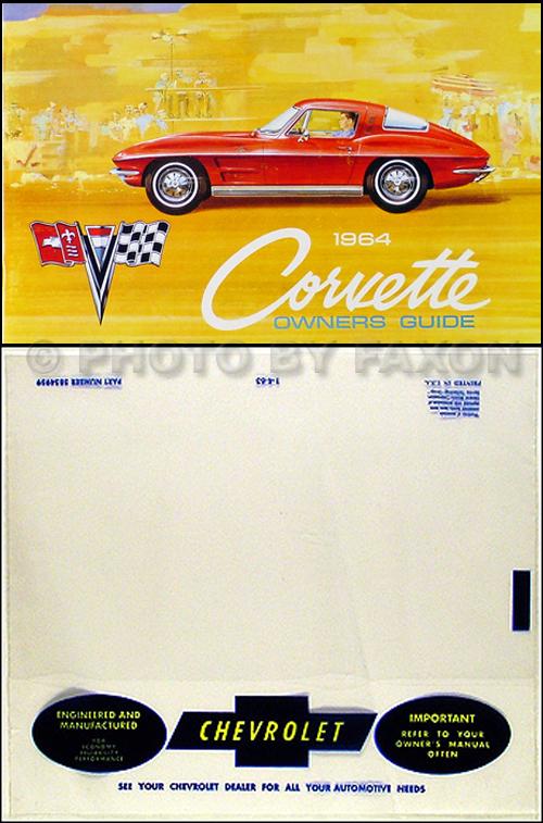 1964 Corvette Owner's Manual Reprint Package