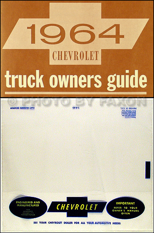 1964 chevrolet pickup truck wiring diagram manual reprint 1964 chevrolet pickup truck owner s manual package reprint