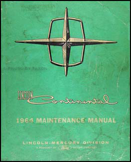 1964 lincoln continental repair shop manual original. Black Bedroom Furniture Sets. Home Design Ideas