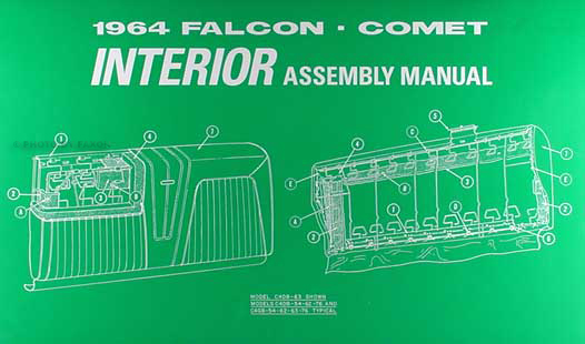 1964FalconCometriam 1964 falcon and ranchero, comet and caliente interior assembly manual au falcon wiring diagram manual at n-0.co