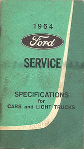 1964 Ford Falcon & Ranchero Wiring Diagram Manual Reprint